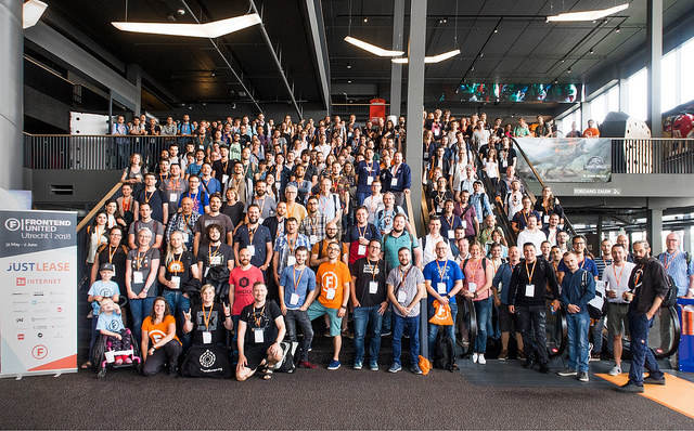 Group photo of Frontend United Utrecht 2018